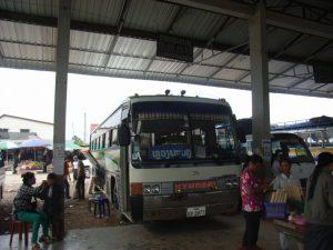 ルアンパバーン行きのバス